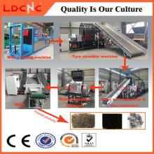 Gummipulver-Produktionslinie-Abfall-Reifen-Wiederverwertungsanlage