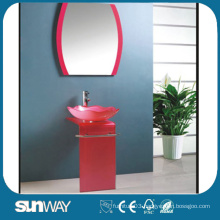 Tempered Glass Basin Vanity with Competitive Price