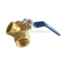 600WOG full port 3 Way brass ball valve