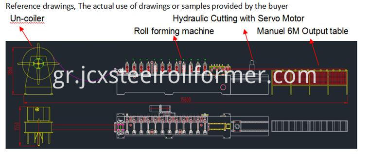 shutter door forming machine