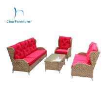 Ensemble de sofa en osier de style européen de meubles de jardin de luxe