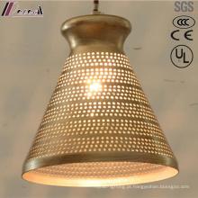 Luz de pingente oca redonda dourada antiga com restaurante