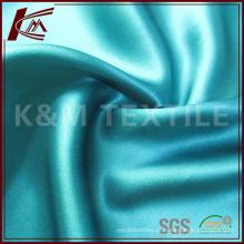 Tecido de cetim seda cor sólida para vestuário