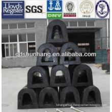 port or harbor using rubber D type fender