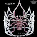 7-Zoll-Strass Crystal Pageant Spider Kronen