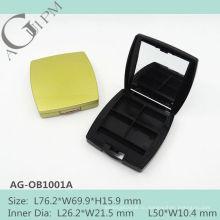 Пустой прямоугольный четыре цвета Eye Shadow дело с зеркало AG-OB1001A, AGPM косметической упаковки, Эмблема цветов