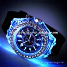 Trendy fashion silicone band led watch