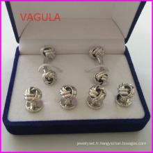 VAGULA nouveaux boutons de manchette noeud qualité Collier boutons boutons Hl161283