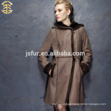 2014 new product winter fur coat fur and leather luxurious sheep women girl sexy leather coat