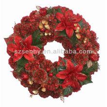 Artificial wholesale xmas Wreaths Pine Cone