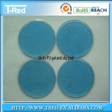 self-adhesive pu anti slip table pad/nano polyurathane sticky pad