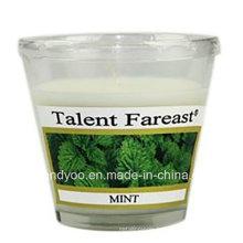 Bougie parfumée au soja à la menthe en verre