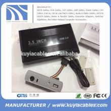 "Liga de alumínio USB 2.0 SATA 3.5 ""Disco rígido externo / HDD Enclosure"