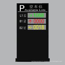 Couleur extérieure P10 double et affichage à LED de trois couches disponibles places de stationnement