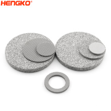 Sintered mesh powder 0.2-120 micron bronze metal 316L stainless steel filter disc