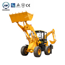 Chinese Small Wheel Mini 4x4 Tractor Excavator Digger Backhoe Loader for sale