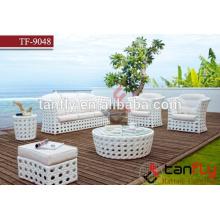 luxury outdoor furniture wicker sofa modern style rattan sofa