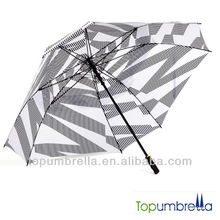 36 Zoll super große windfeste gute Qualität Golf Regenschirm Großhandel Förderung mit Marken-Design