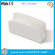 Изготовленный на заказ держатель Белый керамические салфетки для продажи