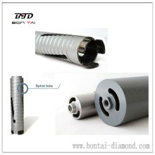 Laser welded dry core bits for bricks, masonry materials
