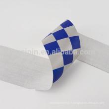 Ruban réfléchissant bleu et blanc