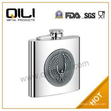 Hot sale FDA 6oz sanding stainless steel wholesale novel international brand of whisky