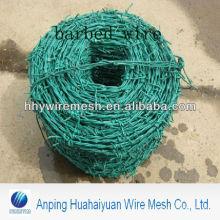 arame farpado mergulhado quente o pvc revestiu o arame farpado galvanizado fábrica do arame farpado do ferro