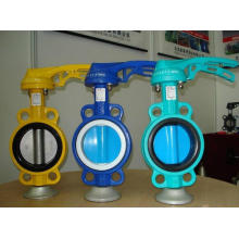 Lever Operated CF8m Stainless Steel Wafer Butterfly Valve
