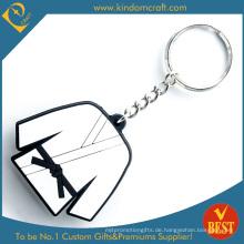 Hohe Qualität Großhandel Werbe Taekwondo Tuch Gummi Weich-PVC-Schlüsselanhänger als Souvenir