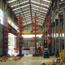 High quality Jracking forklift/manual hydraulic trolley accessible warehouse shelving hanger cantilever