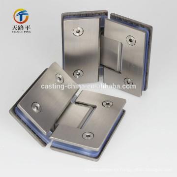 bisagra de puerta de acero inoxidable de fundición para puerta de vidrio