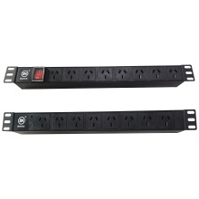 High quality 8 outlets Australian type cabinet PDU 10A 250V power indicator Rack PDU