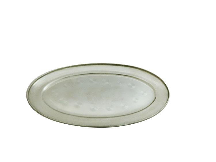 Egg-shaped plate