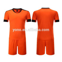 2017 dernier blanc design football jersey haute qualité football uniforme uni sec fit football jersey kit
