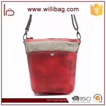 Sac à bandoulière en toile coloré en cuir pour sac à bandoulière pour femme