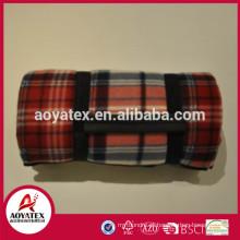 Baixo preço promocional piquenique cobertor, Fold up cobertor de piquenique no pacote de rolamento, cobertor de piquenique ao ar livre