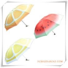 Regalo promocional de moda 3 paraguas plegable con fruta pintada