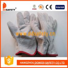 Guantes de seguridad de guantes de invierno de conductor de cuero de vaca (DLD310)