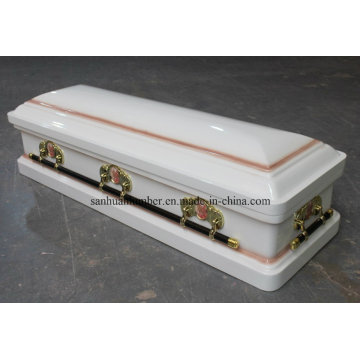 Wood and Metal Coffin