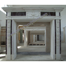 Marble Fireplace with Stone Sandstone Granite Limestone (QY-LS392)