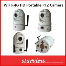 Caméra PTZ réseau portable WiFi + 4G HD