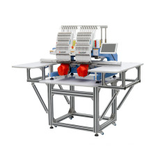 New type Automatic alternate two heads computerized embroidery machine price