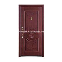 Стальная деревянная входная дверь (компания fxgm-А100)