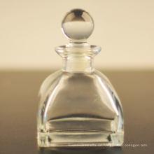 250ml Beliebte quadratische Glasdiffusor-Flasche mit Glasdeckel