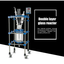 50L Double lined glass Reactor with Constant rotating speed for biopharmaceuticals synthesis