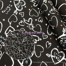 Coeur amour Patterns 250GSM tissé toile tissu