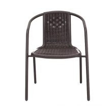 New Design Rattan-Look Plastic Injection Bistro Chair