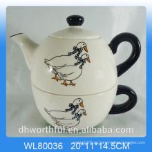 Creativedecal pato de cerámica 2pc Teapot Set