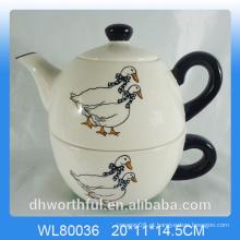Creativedecal pato cerâmica 2pc Teapot Set
