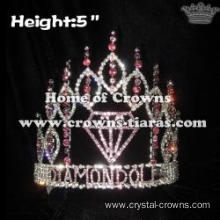 5in Height Crystal Diamond Pageant Crowns